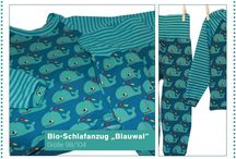 Camiseta Rayas Petróleo/Agua - Lillestoff / Prendas elaboradas con la tela Ringeljersey - petrol/aqua de Lillestoff