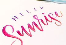 Brush, script and Calligraphy