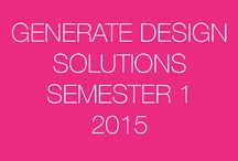 Generate Design Solutions: Sem 1-2015 / This board is a resource for SketchUp students to share their design ideas with others.