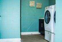 Laundry Room Ideas / Laundry rooms can feel like a room of chores and boredom more often than not. Use our laundry room ideas board to get inspiration on how you can create a room where you want to spend time in.