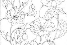 Kwiaty kolorowanka
