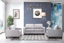 Modern Contemporary Fabric Grey Sofa Bed Collection