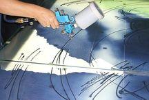 Techniken der Glasverarbeitung / Wir beherrschen alle Techniken!  Vom Zuschnitt über Airbrush bis hin zu Siebdruck und Bleiverglasung.