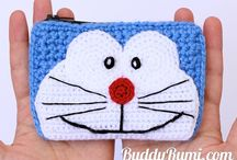 doraemon crochet wallet