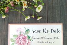 Watercolour Invitations / A variety of watercolour invitations for all occasions