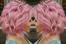 pink hair short