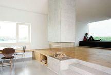 Split level Wohn- Esszimmer