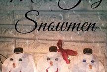 Zima + Vánoce / inspirace, výrobky, nápady, dekorace se zimní a vánoční tématikou