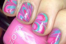 Nails / Nail ideas-marbeling
