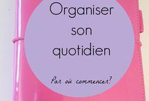 Organisation / Agenda, listes, journal