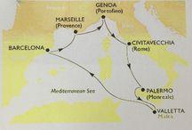 Cruise: Genoa-Roma-Palermo-La Valetta-Barcelona-Marseille-Genoa
