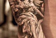 Angel tattoo men