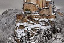 Alcazar Castle in the winter, Segovia, Spain...