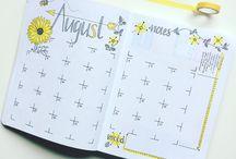 bullet journal months
