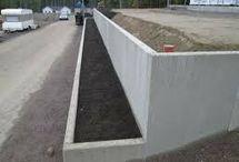 Hage skråning betong