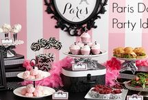 Paris Inspired Party Ideas with Pink, Black, and White