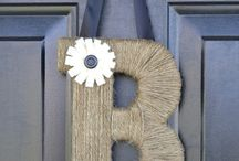 Letter wreath