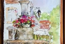 Watercolor with Dreama / Painting locations and inspiration from Dreama Tolle Perry.