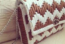 ネット編み バッグ
