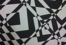 2 Dimension (Black & White) / Cutting black linen paper on white linen paper