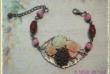 Pulseras flores Col. Bracelet fleurs / Bisutería artesanal