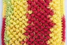 crocheted dishcloths, hot pads, placemats and coasters
