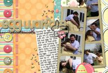Easter ~ Scrapbook layout