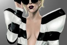 Celebrity Eyewear: Lady Gaga Eyewear / Stefani Joanne Angelina Germanotta (/ˈstɛfəniː dʒərməˈnɒtə/ ste-fə-nee jər-mə-not-ə; born March 28, 1986), better known by her stage name Lady Gaga, is an American pop-singer, songwriter, activist, record producer, businesswoman, fashion designer, philanthropist, and actress. Born and raised in New York City, where she lives.   / by Optical Vision Resources
