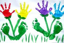Hands and Feet / The artwork I will always save are the handprint art projects by my children. I love the little footprint crafts too. So sweet! / by Tabitha Philen (Meet Penny)
