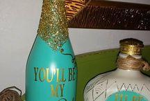 Wine bottles creations