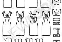 Kjolemønstre med erme