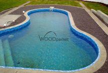 Realizace terasy okolo bazénu @woodparket / #woodparket #terasy #fotogalerie #WPC #zahrada @woodparket