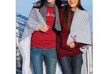 Cozy and Warm / We are all about a cozy wrm blanket or sweater. Need it monogrammed. We can set you up. Perfect graduation gifts and wedding gifts.