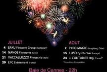 Festival d'Art Pyrotechnique 2013 / La baie de Cannes s'embrase cette année encore pour une nouvelle édition du Festival d'Art Pyrotechnique du 4 juillet 2013 au 24 août 2013 avec 6 pays en compétition.