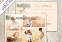 Photography Portfolio Cards / Layered .PSD templates to create photography portfolio cards / advertising cards. These templates are available in my Etsy shop - https://www.etsy.com/shop/DutchLadyDigiDesign