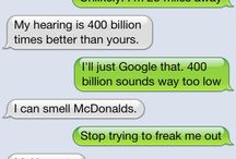 Text messages / For funny text messages