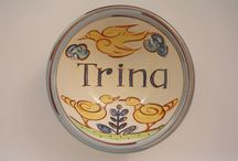 Personalised Ware / Plates to commemorate weddings & births.  Mugs, bowels or plates personalised with your words
