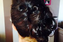 Hair for weddings / Updo's