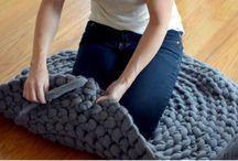fabriquer un tapis en laine géante