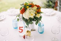 Wedding table settings and decorations
