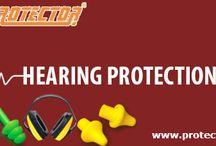 Ear protection / In many industrial sceneries, hearing protection is vivacious to ensuring employees have a safe work atmosphere. As part of our assurance to offer top quality protective equipment to our customers, Protectorfiresafety offers safe, effective hearing protection devices.