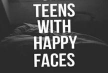 Sad teens