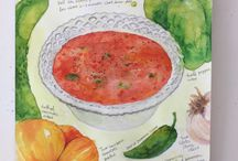 Food Illustrations Yum Yum / I love watercolour (and other) illustrations of food.