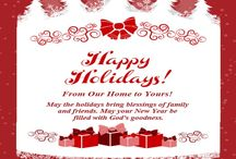 Happy Holidays! / Group Board - PIN Your Favorite Holiday Pins! / by DBE Community Outreach