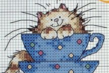 Cross-stitch, needlework