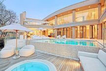 Pools and entertaining areas