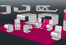 Versatile furnitures fitting every space perfectly. / This set may be used at every spot both private or public one.