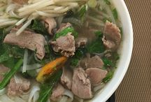 "Pho / My love and obsession with pho, the national noodle soup of Vietnam. ""The Pho Cookbook"" will be published in early 2017.  / by Andrea Nguyen"