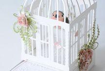Paper bird cage