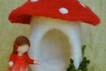 Felted fairy house
